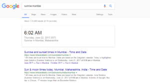 Google sunrise sunset