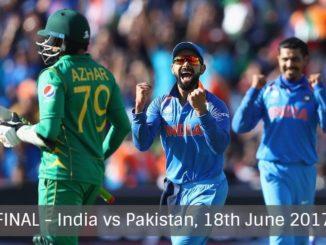 India vs Pakistan in CT17 Final