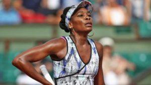 Venus Williams crashes out