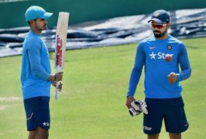Virat gifts Shreyas Iyer an MRF bat