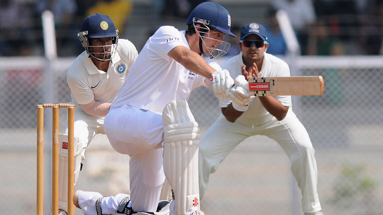 Alastair Cook Against India
