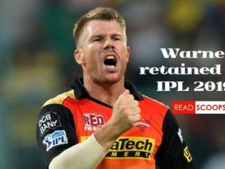 David Warner has been retained by SRH for IPL 2019