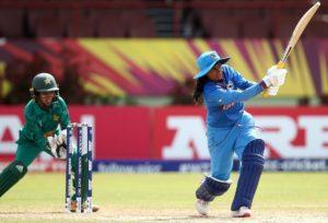 Mithali Raj against Pakistan in the WWT20