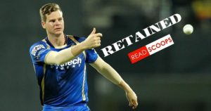 Steven Smith has been retained by Rajasthan ROyals for IPL 2019