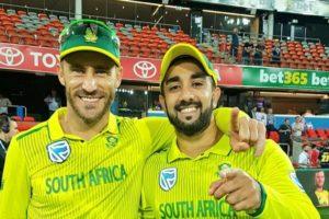 Tabraiz Shamsi won MOM in the one-off T20I against Australia