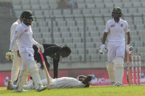 Tendai Chatara injured himself against Bangladesh
