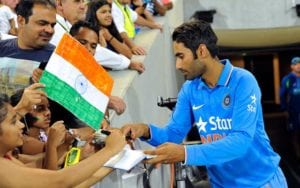Gurkeerat Singh of India signs autographs for India - Read Scoops exclusive interview