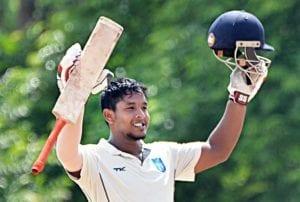 Akshdeep Nath scoring a ton in Ranji Trophy