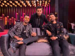 Hardik Pandya and KL Rahul on Koffee with Karan