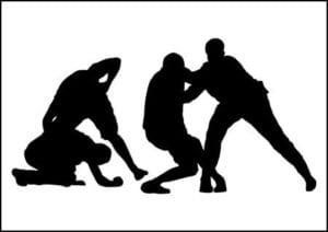 Street fight at Linking Road, Bandra