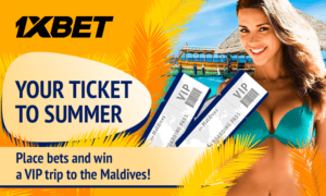 1xBet to send one lucky player to Maldives