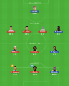 Everton vs Manchester City EPL 2018-19 Fantasy team