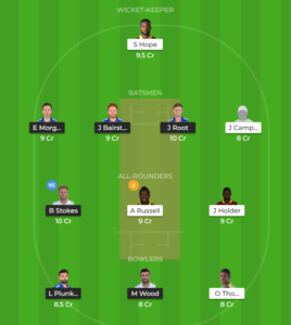 West Indies vs England 4th ODI fantasy team