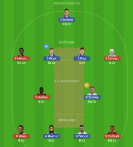 Windies vs England 1st ODI Fantasy team