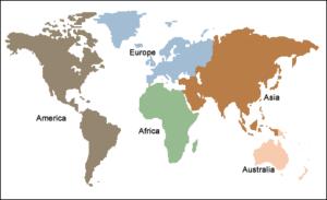 5 continents model