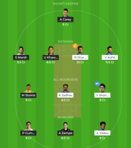 India vs Australia 4th ODI fantasy team
