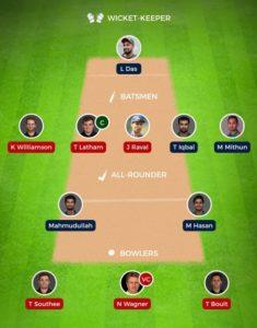 New Zealand vs Bangladesh 2nd Test fantasy team