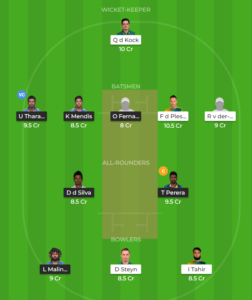South Africa vs Sri Lanka 2nd ODI fantasy team