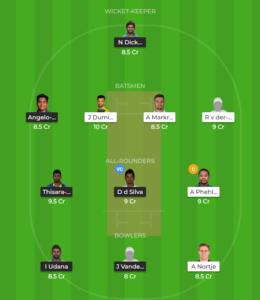 South Africa vs Sri Lanka 2nd T20 fantasy team