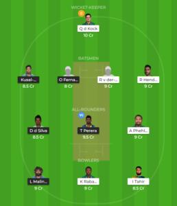 South Africa vs Sri Lanka 3rd ODI fantasy team