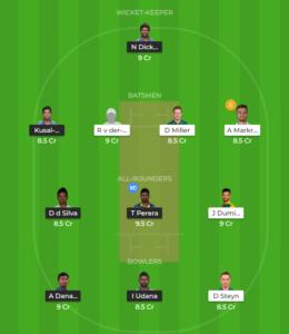 South Africa vs Sri Lanka 4th ODI fantasy team