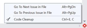 Visual Studio 2019 code cleanup
