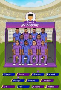 IPL 2019 Match 47 - KKR vs MI Fantasy Team