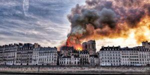 Notre Dame burns down in Paris