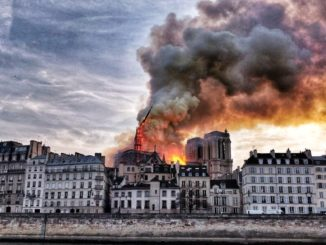 Notre Dame burns down in Paris