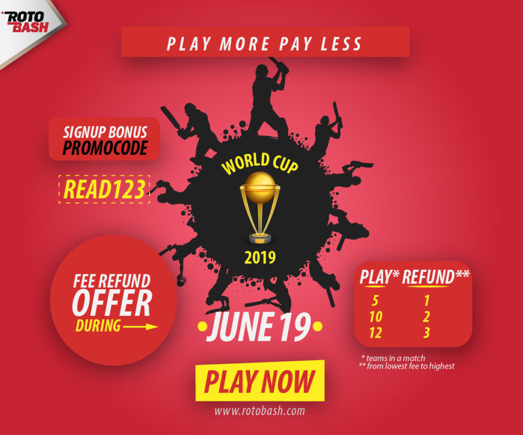 Sign-up to Rotobash fantasy cricket   Read Scoops