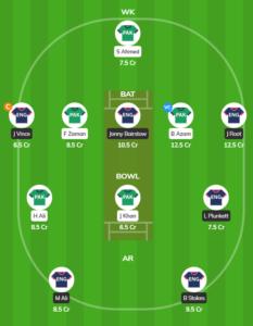 England vs Pakistan - 3rd ODI fantasy team