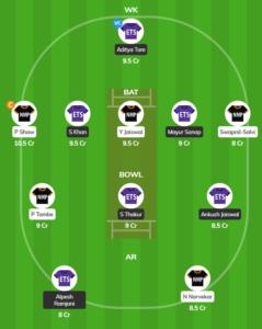 Mumbai T20 League - ETS vs NMP Fantasy Team