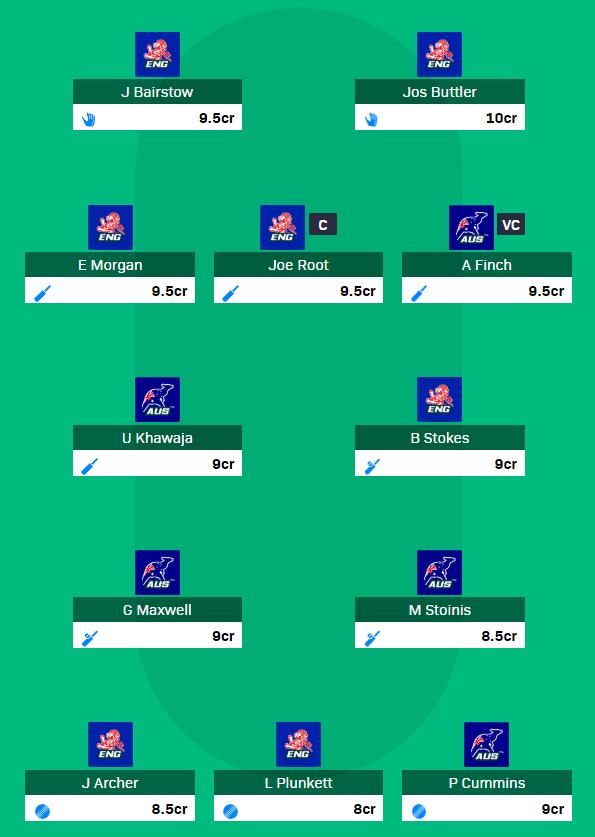 CWC 2019 Match 32 - ENG vs AUS fantasy team