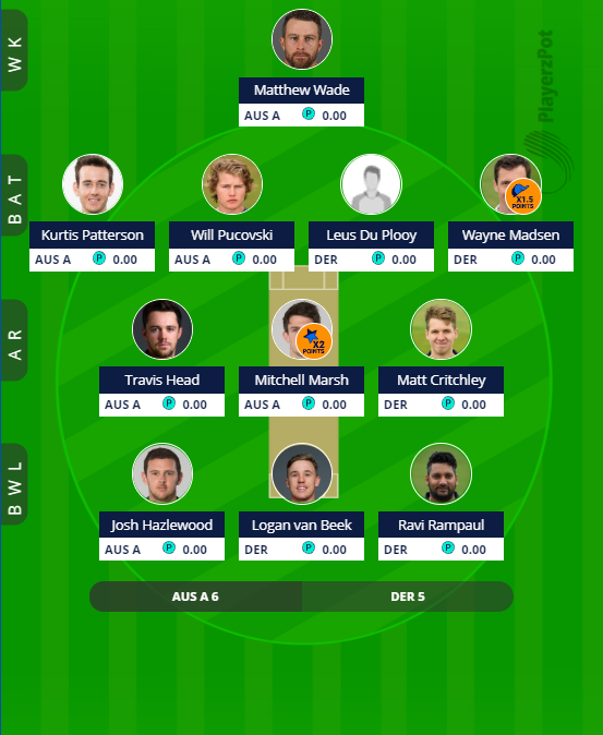 DER vs AUS A - 2nd ODI Fantasy Team