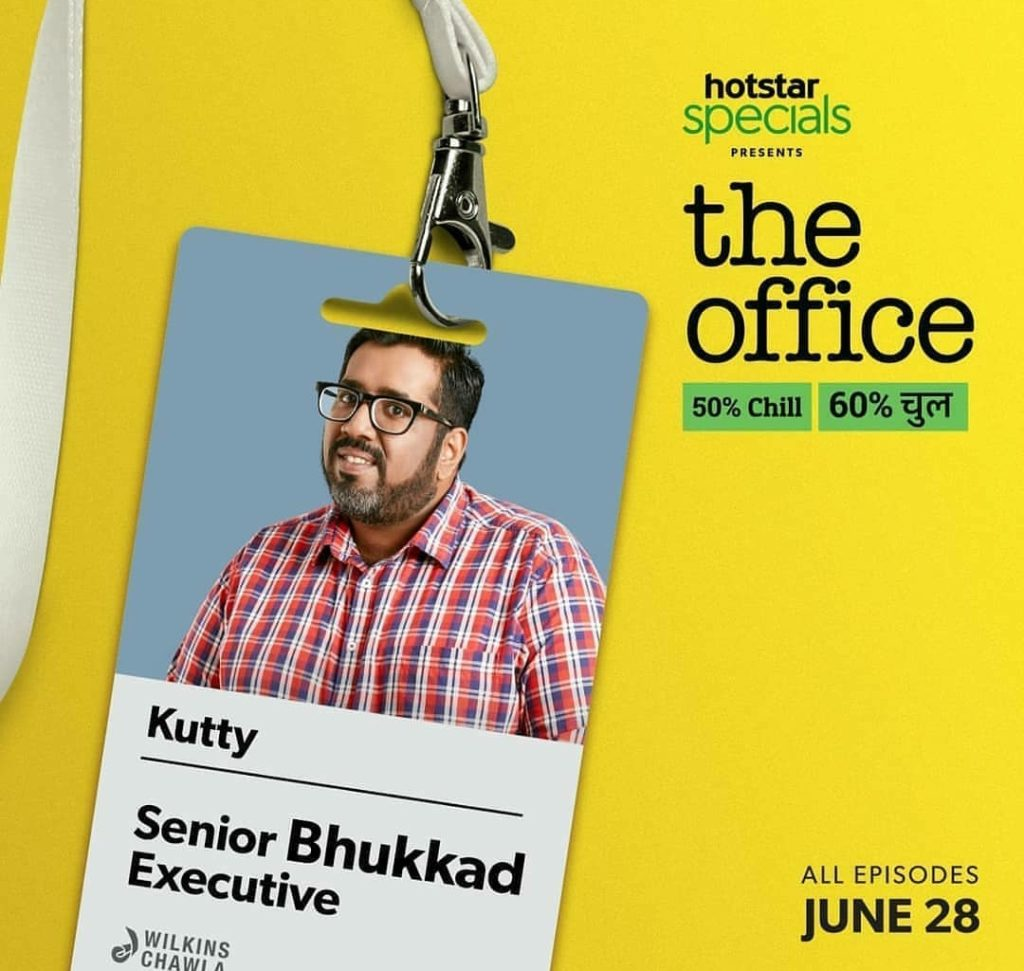 TK Kutty in The Office