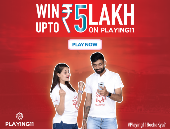 Sign-up and win 5 Lakh on Playing11