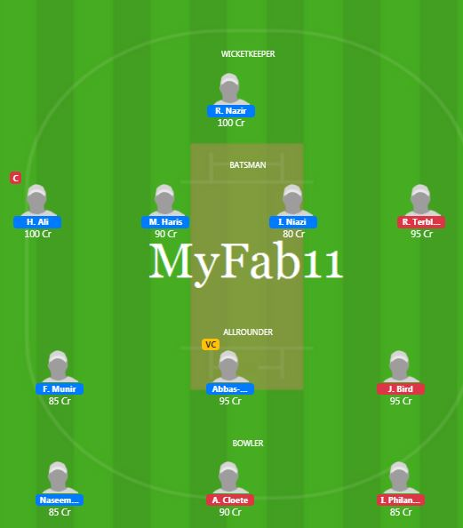SA U19 vs PAK U19 - 6th ODI Fantasy Team