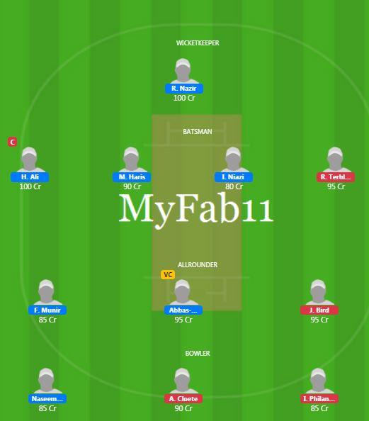 SA U19 vs PAK U19 - 6th ODI Fantasy Team