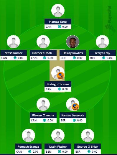 Americas Region T20 - BER vs CAN Fantasy Team