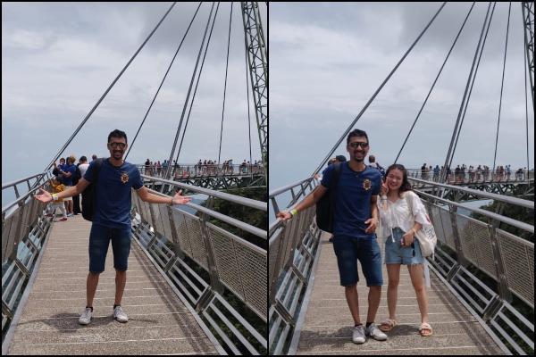 SRK pose at Langkawi Sky Bridge