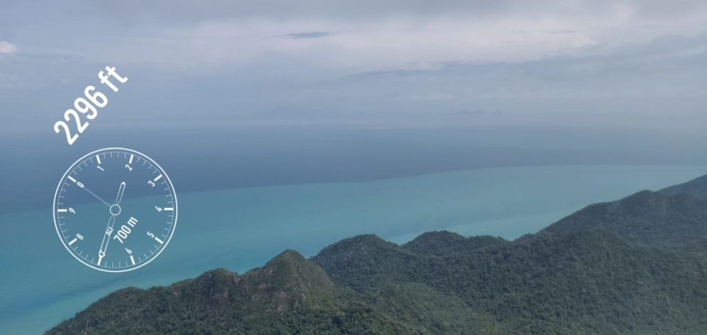 2,000 feet high in Langkawi