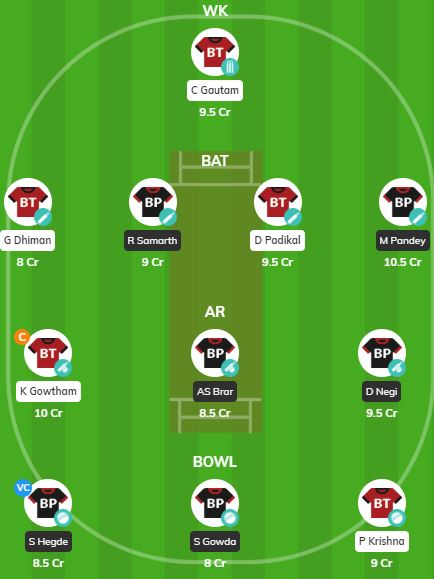 KPL 2019 Match 3 - BT vs BP Fantasy Team
