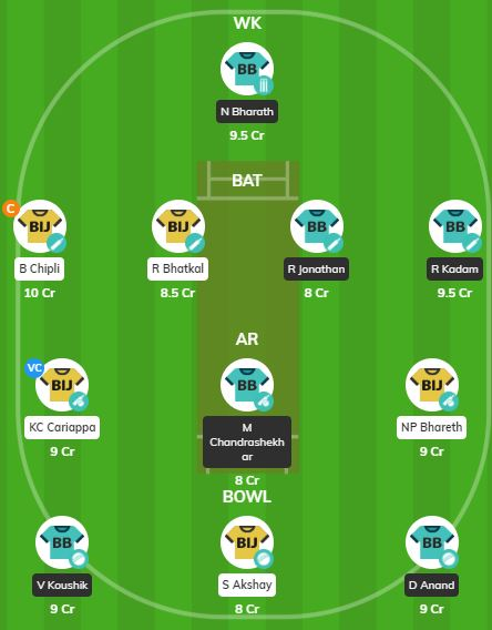 KPL 2019 Match 5 - BB vs BIJ Fantasy team