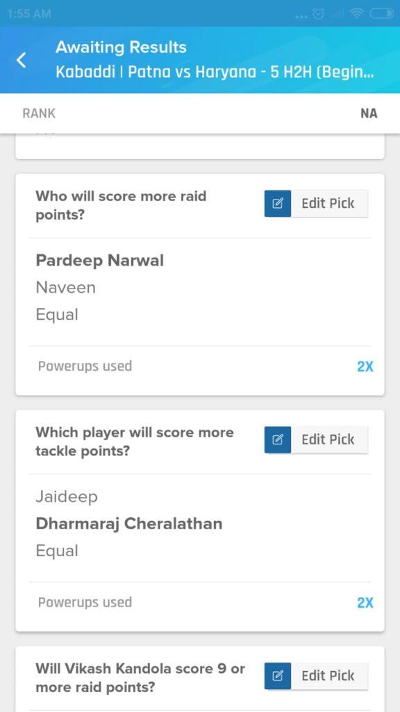 PKL 7 Match 30 - PAT vs HAR Nostragamus Picks