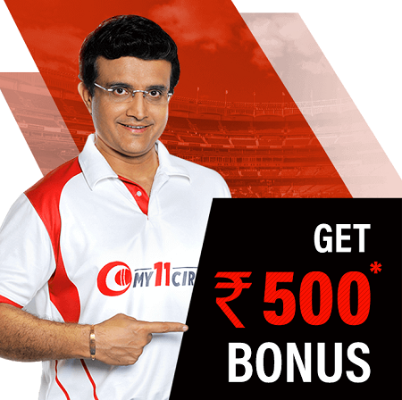 Sign-up to My11Circle to get upto Rs.500 bonus