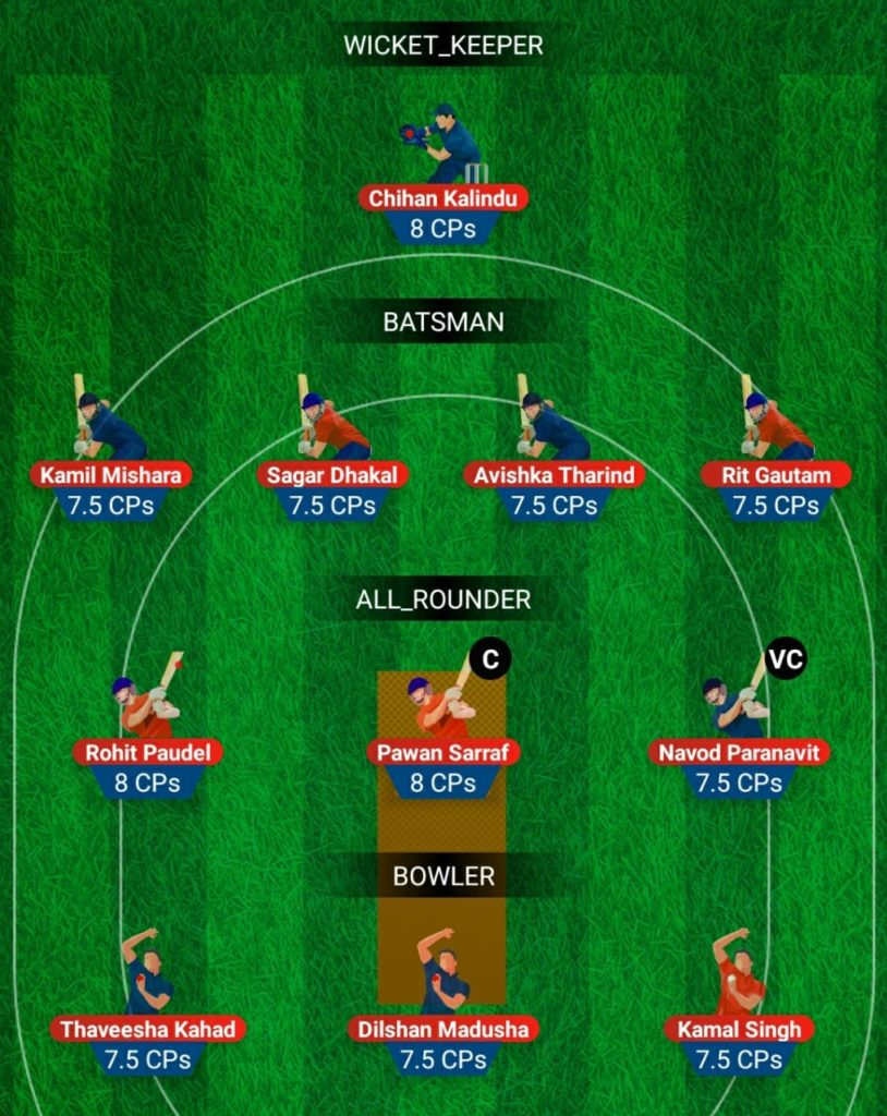U19 Asia Cup - SL U19 vs NEP U19 Fantasy Team
