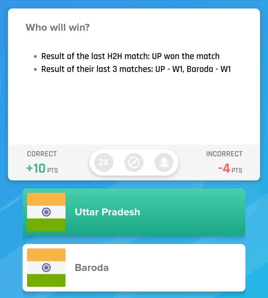 Vijay Hazare Trophy 2019 - UP vs BRD Nostragamus Pick