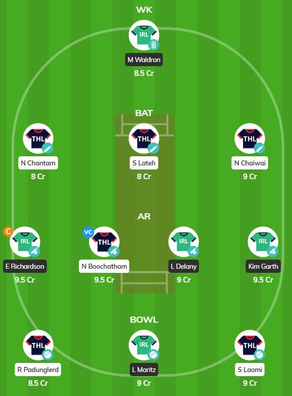 Women's T20 Qualifiers 2019 - IRE-W vs TL-W Fantasy Team