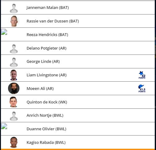 MSL 2019 Match 1 - JOZ vs CTB Fantasy Team