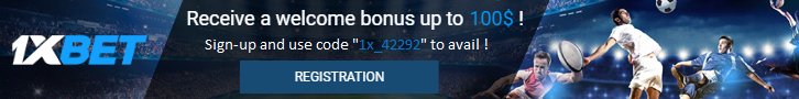 Sign-up to 1xBet and get 100% bonus